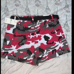 Plus size camouflage shorts